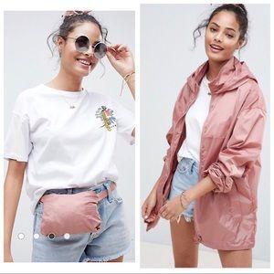 ASOS | Pink Windbreaker Zip Jacket Pouch